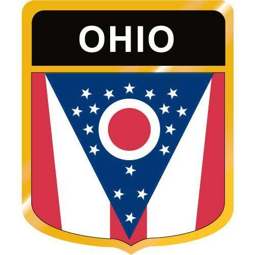 Ohio flag clipart svg library Ohio Flag Crest Clip Art svg library