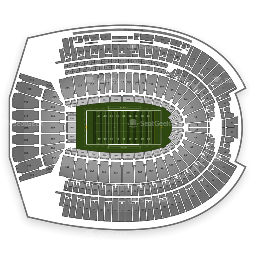 Ohio state vs michigan football clipart picture free stock Ohio State Buckeyes Football Seating Chart & Map | SeatGeek picture free stock