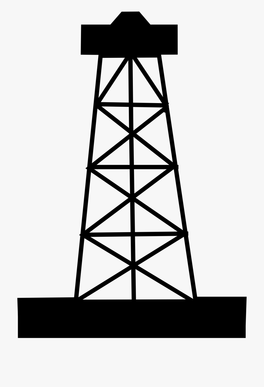 Oil and gas clipart black and white png royalty free library Oil Or Gas Well Clip Art - Oil Rig Clipart Png #159608 - Free ... png royalty free library