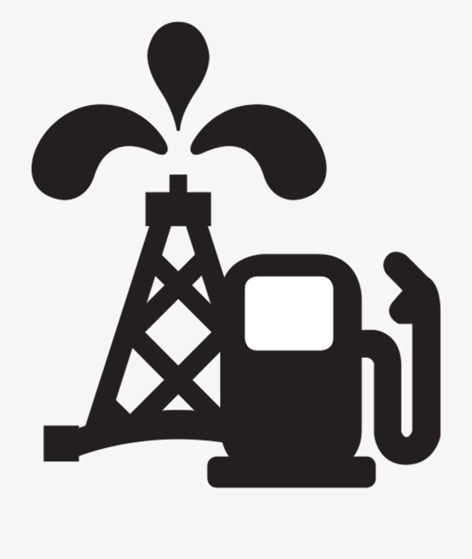 Oil and gas clipart black and white