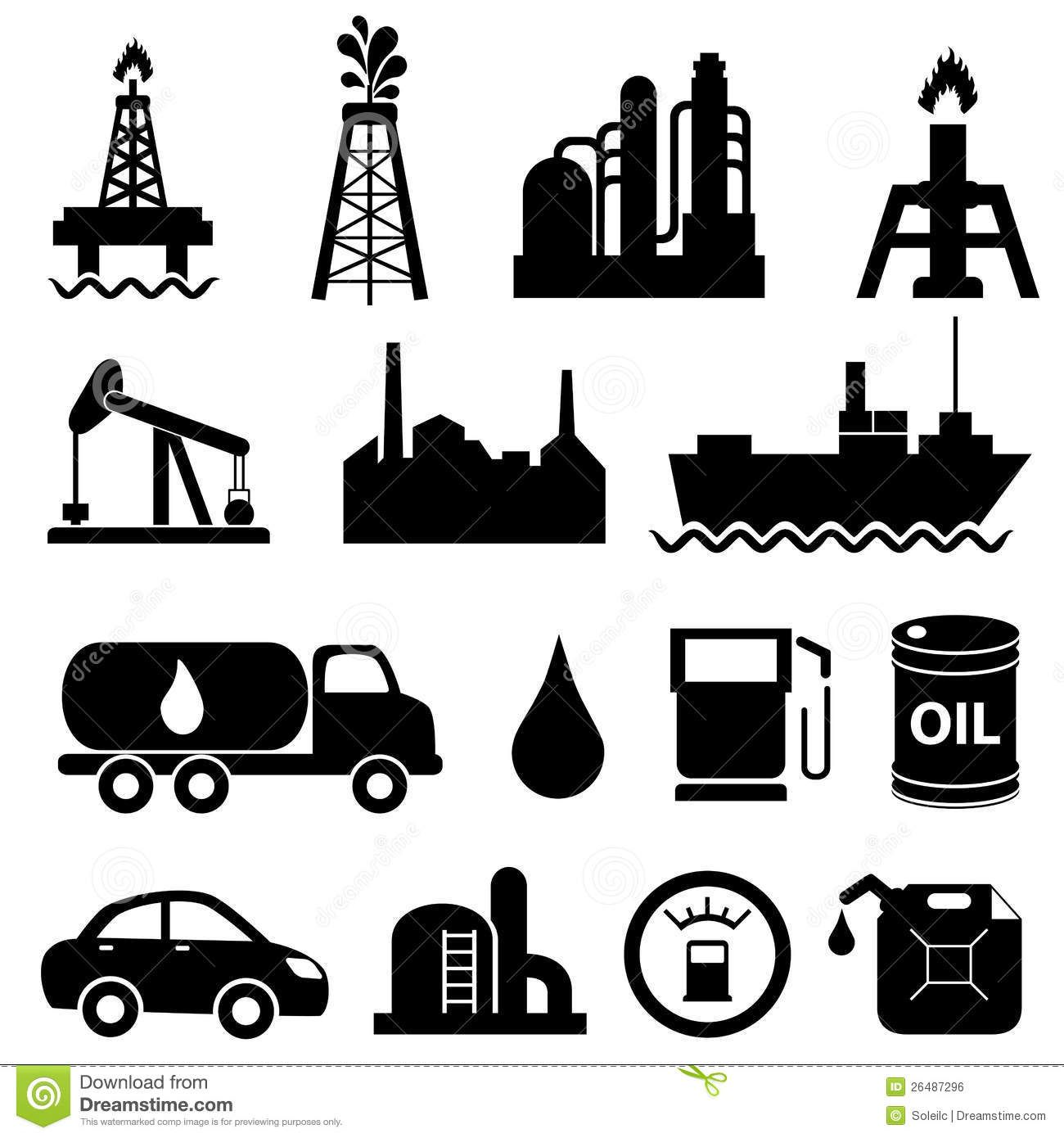 Oil and gas clipart black and white clip art library download INDUSTRY ENERGY Oil Industry Icon Set Royalty Free Stock Image ... clip art library download