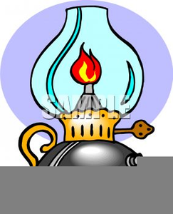 Oil lamp clipart free