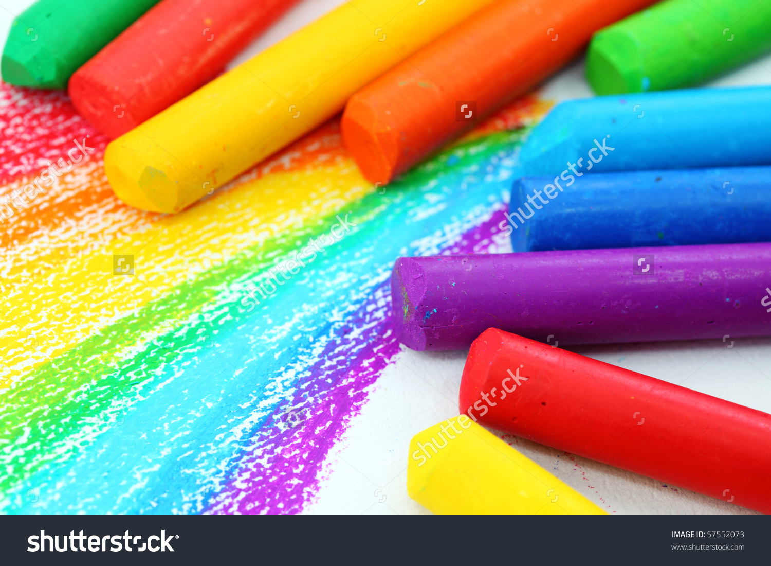 Oil pastel clipart graphic freeuse Oil Pastel Crayons On White Paper Stock Photo 57552073 - Shutterstock graphic freeuse