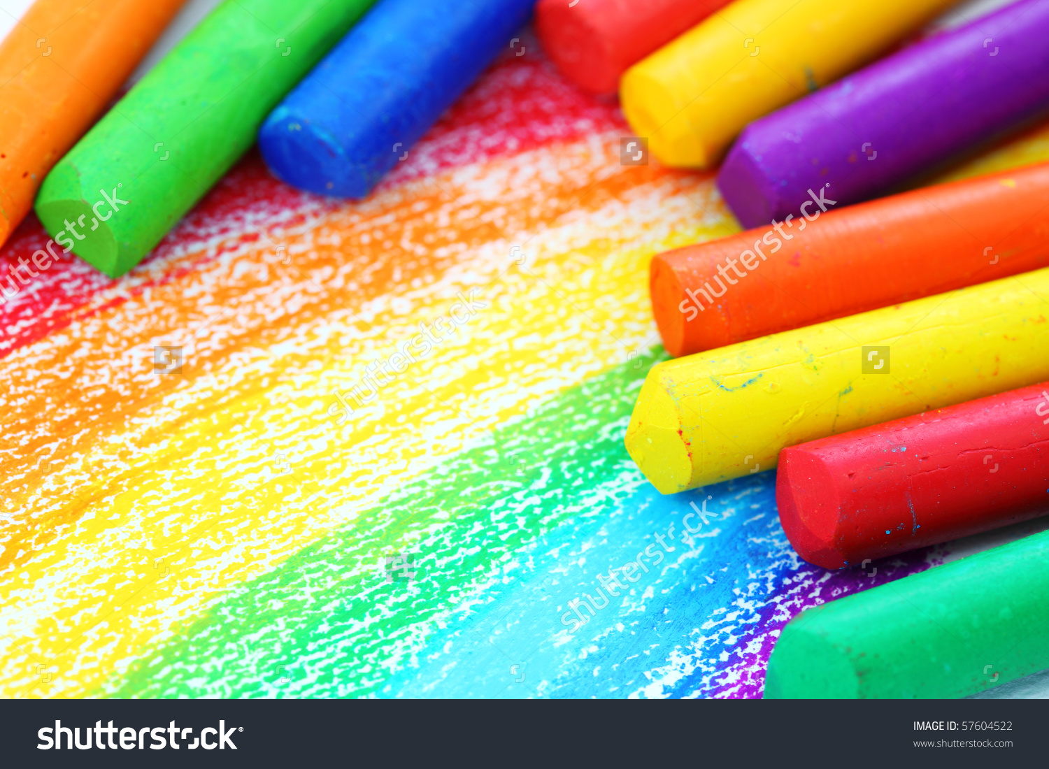 Oil pastel clipart png library stock Oil Pastel Crayons On White Paper Stock Photo 57604522 - Shutterstock png library stock