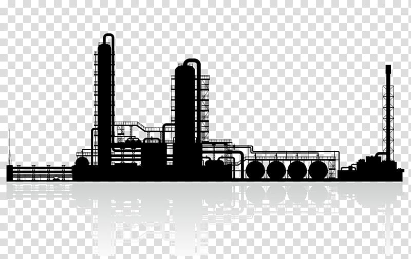 Oil plant clipart png black and white stock Factory illustration, Oil refinery Petroleum Chemical plant , others ... png black and white stock