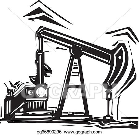 Oil pump jack clipart svg library library Vector Clipart - Oil pumpjack. Vector Illustration gg66890236 - GoGraph svg library library