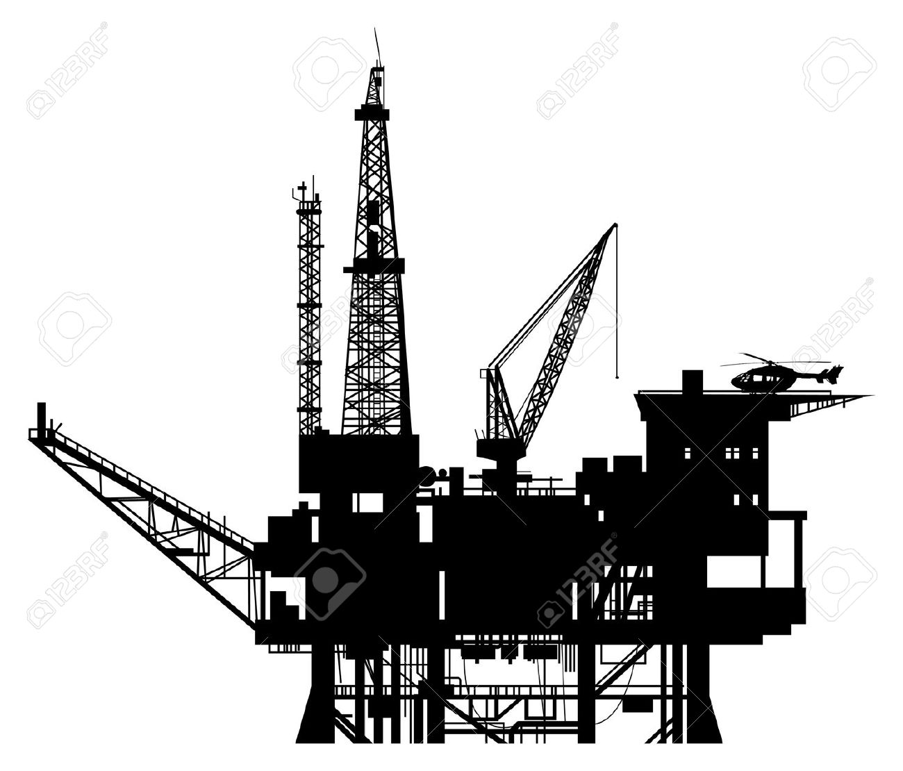 Oil rigs clipart clip art black and white stock 6+ Oil Rig Clipart | ClipartLook clip art black and white stock