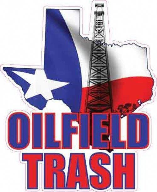 Oilfield pump her till she squirts clipart free stock Texas oilfield trash vinyl decal, 6.5\