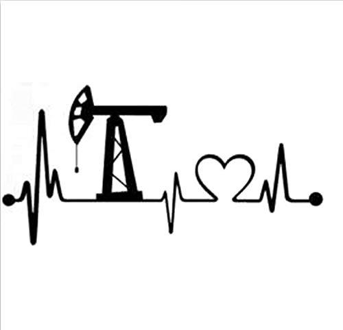 Oilfield pump her till she squirts clipart image download 17.8cm * 8.9cm Oilfield Heartbeat Lifeline CarStyling Stickers Autocollants  Noir/Argent/3PCS image download