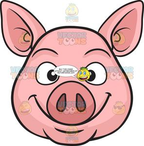Oink clipart vector freeuse A Smiling Pig vector freeuse