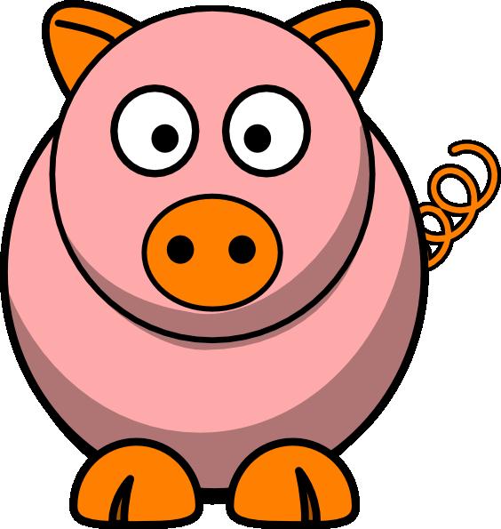 Oink clipart svg transparent stock Pink Pig Clip Art at Clker.com - vector clip art online ... svg transparent stock