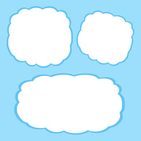 Okay okay clouds blank clipart picture library library Blank clouds frame template - Download Free Vector Art, Stock ... picture library library