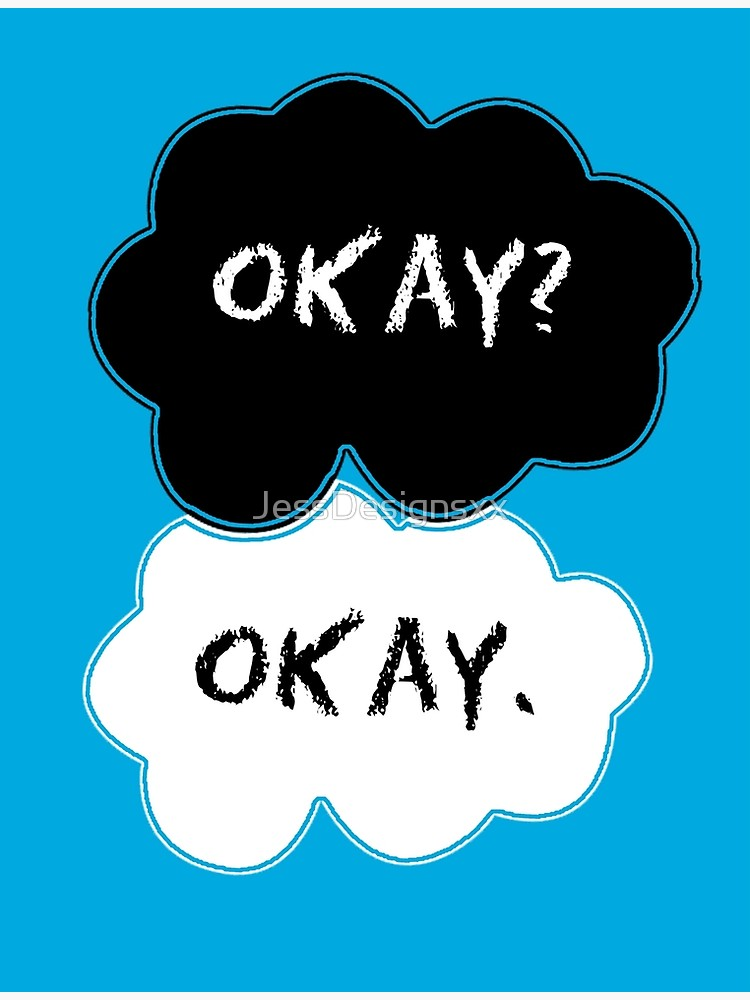 Okay okay clouds blank clipart vector transparent The Fault In Our Stars Clouds   Poster vector transparent