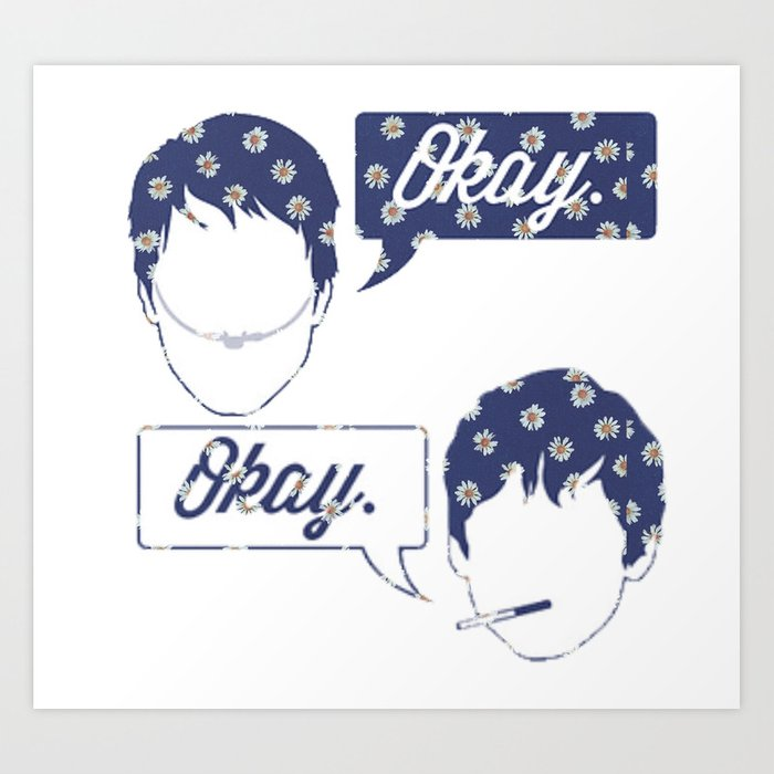Okay okay clouds blank clipart vector freeuse download OKAY?OKAY THE FAULT IN OUR STARS TFIOS HAZEL AUGUSTUS CLOUDS SPEECH BUBBLES  Art Print by monalisacried vector freeuse download