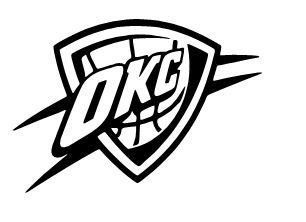 Okc logo clipart vector freeuse download OKLAHOMA CITY THUNDER Vinyl Decal Sticker Car by RafysDecals, $1.50 ... vector freeuse download
