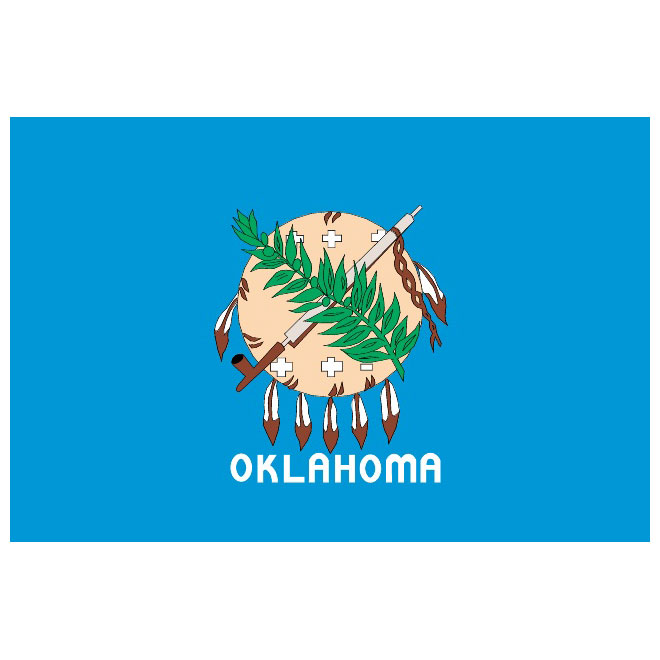 Oklahoma flag clipart transparent library Oklahoma state vector flag - Free vector image in AI and EPS ... transparent library