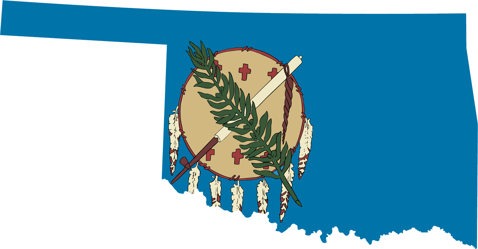 Oklahoma flag clipart clip art royalty free download Oklahoma Flag Map • Mapsof.net clip art royalty free download