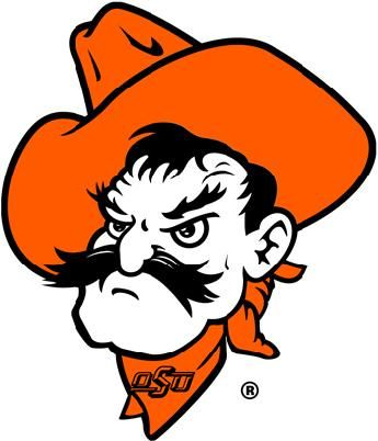 Oklahoma state university logo clipart jpg transparent stock Pistol Pete, mascot for Oklahoma State University. It was not ... jpg transparent stock