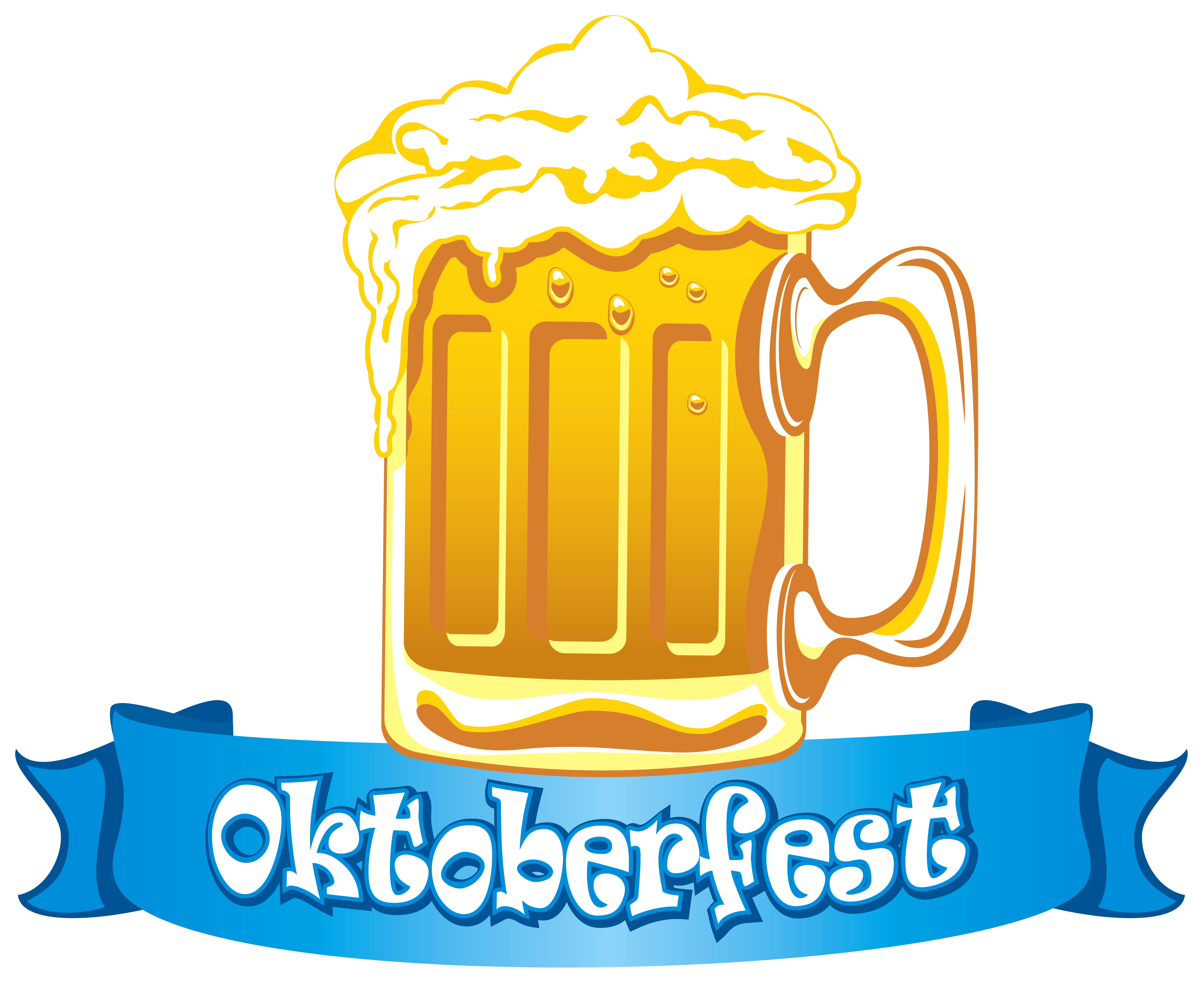 Oktoberfest clipart png svg royalty free library Oktoberfest Banner with Beer PNG Clipart Image | Gallery ... svg royalty free library