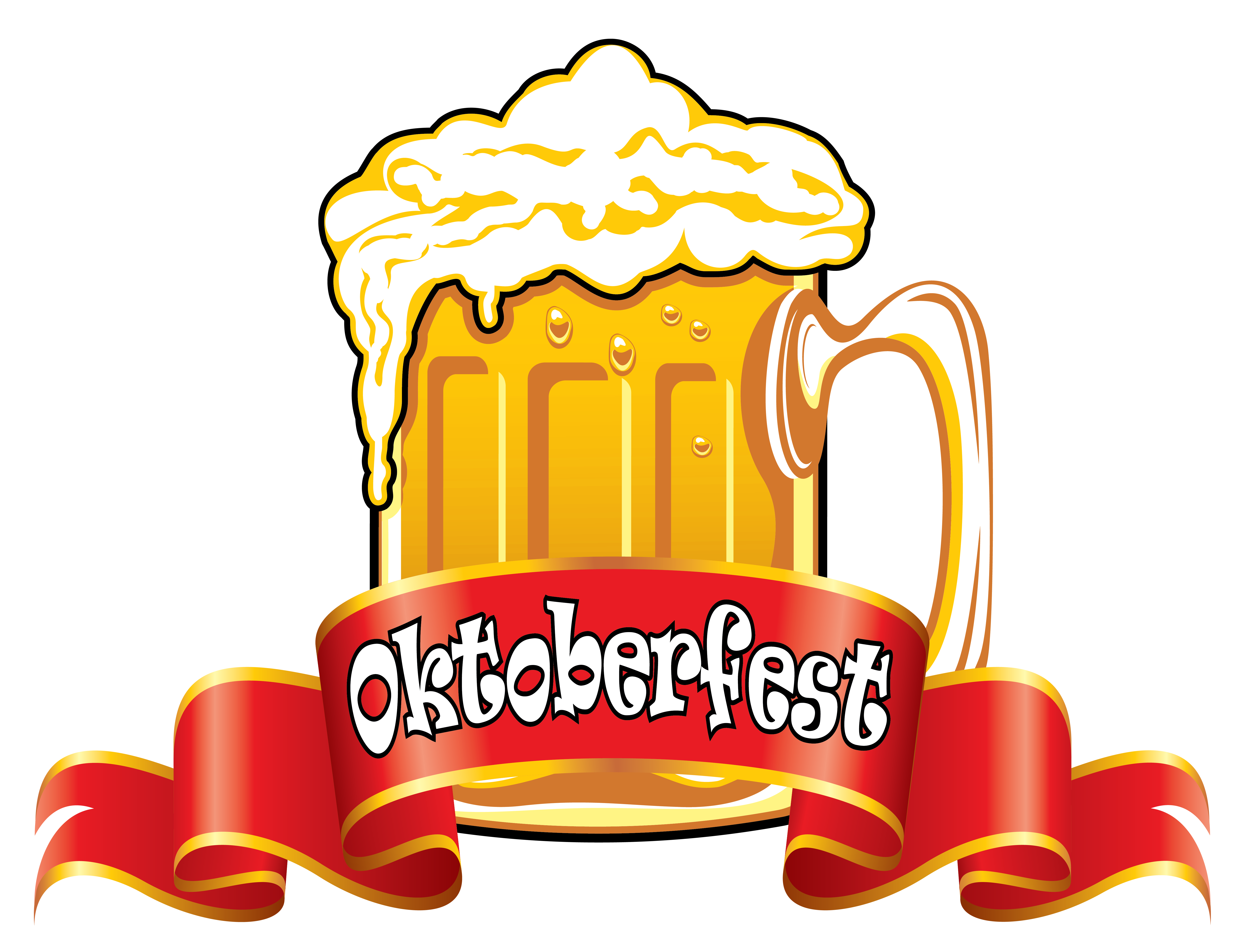 Oktoberfest clipart png jpg stock Oktoberfest Red Banner with Beer PNG Clipart Image | Gallery ... jpg stock