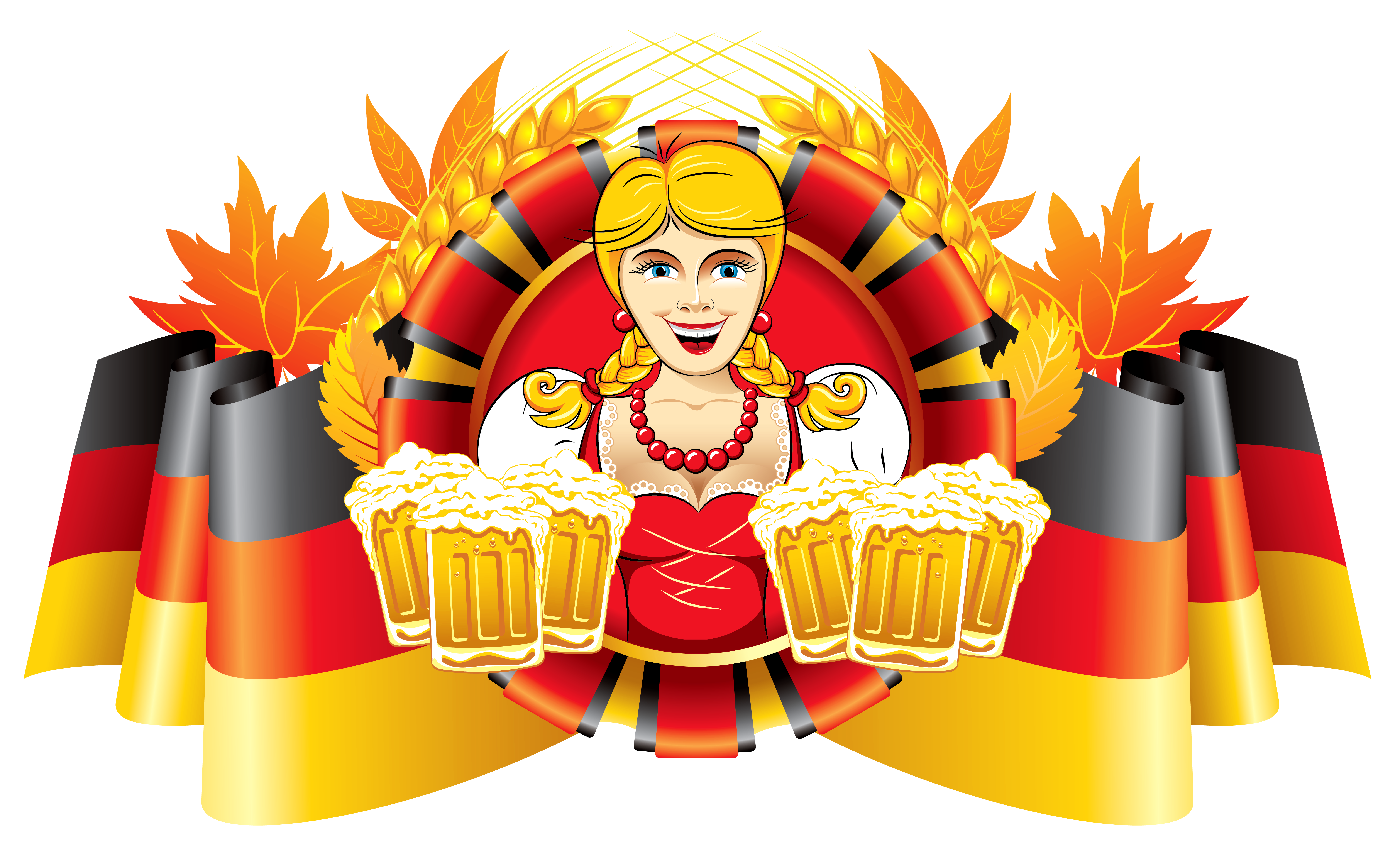 Oktoberfest german flag on pole clipart png png transparent stock Oktoberfest Decor German Flag and Girl with Beer | Gallery ... png transparent stock