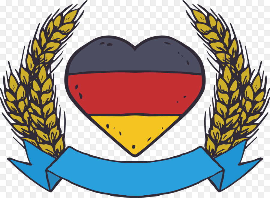 Oktoberfest german flag on pole clipart png clipart black and white stock Poster Heart png download - 4386*3212 - Free Transparent Germany png ... clipart black and white stock