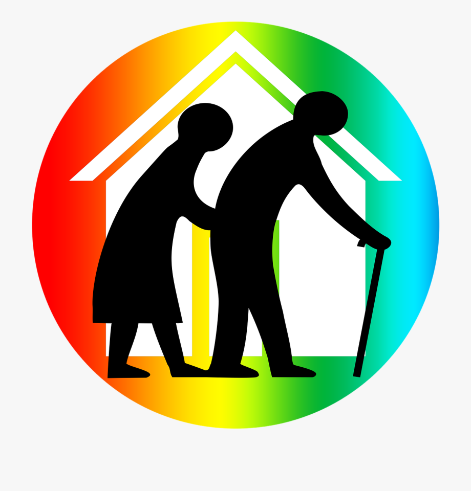 Old age home clipart jpg royalty free library Seniors,care For The Home, - Old Age Home Symbol #2163560 - Free ... jpg royalty free library
