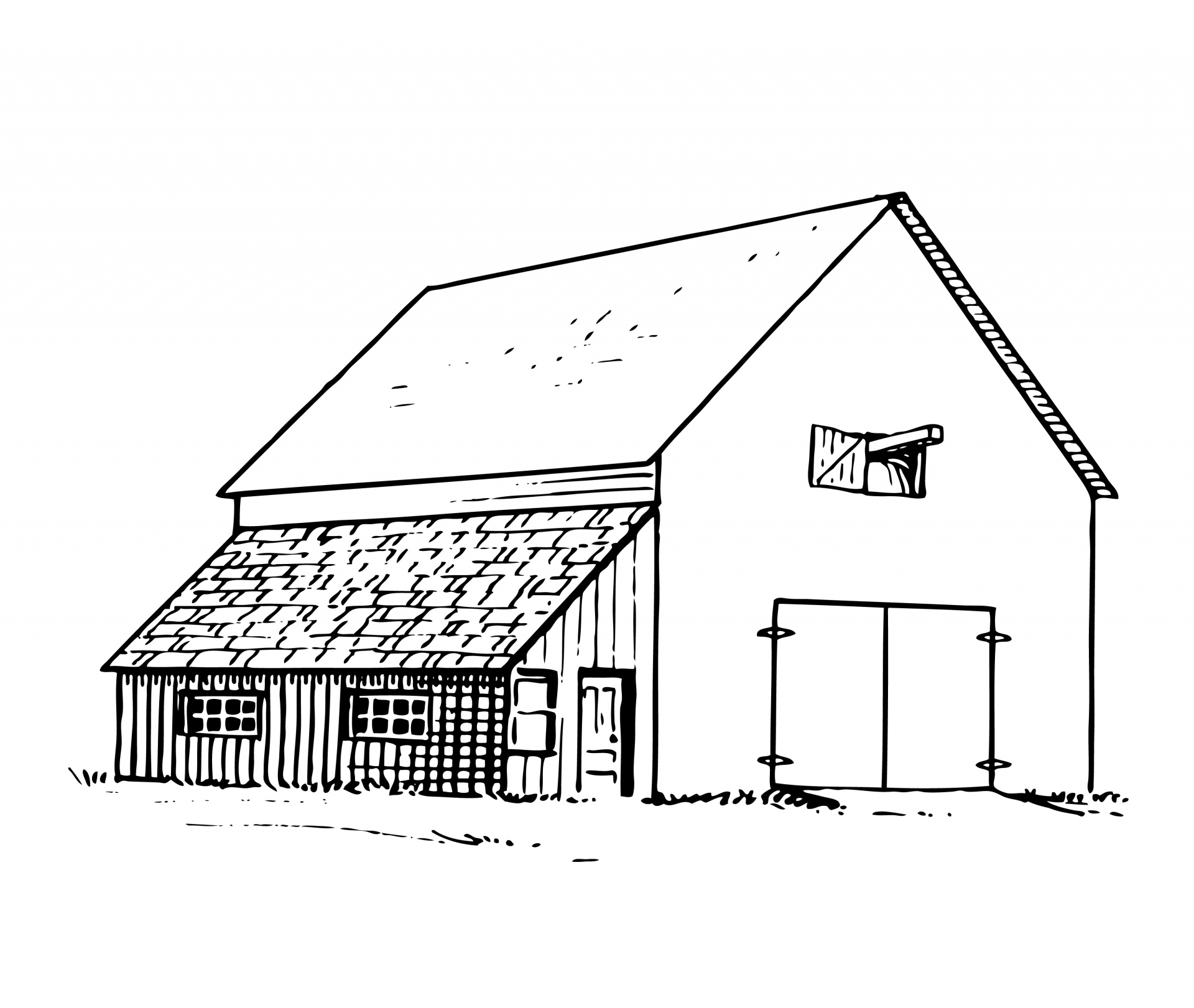 Old barns clipart