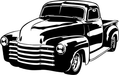 Old beat up 52 chevy car clipart black and white banner transparent Search photos chevy banner transparent