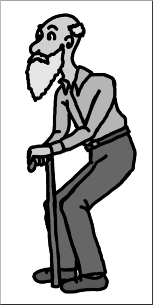 Old black man clipart png Clip Art: Old Man Grayscale I abcteach.com | abcteach png