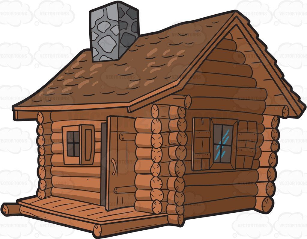 Old cabin with tent clipart transparent A house made out of logs, with two windows and a door, gray stone ... transparent