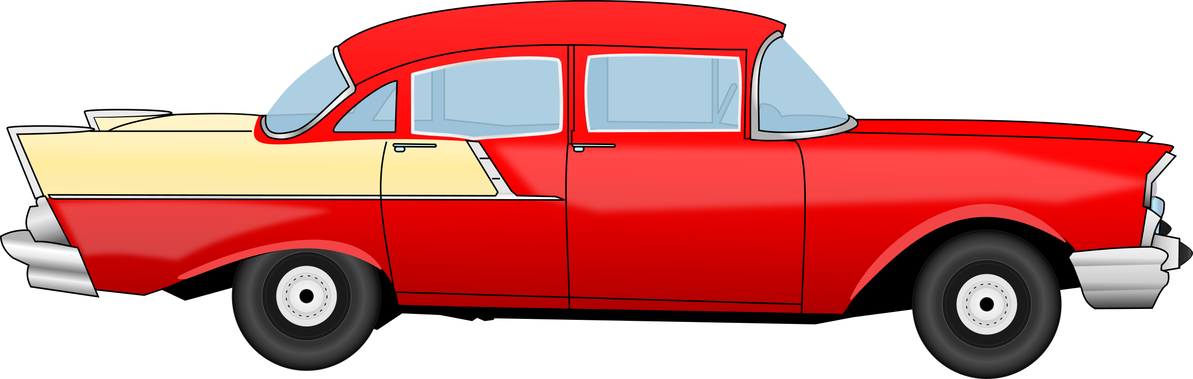 Old car clipart svg Clipart - Chevrolet 55 old classic car svg