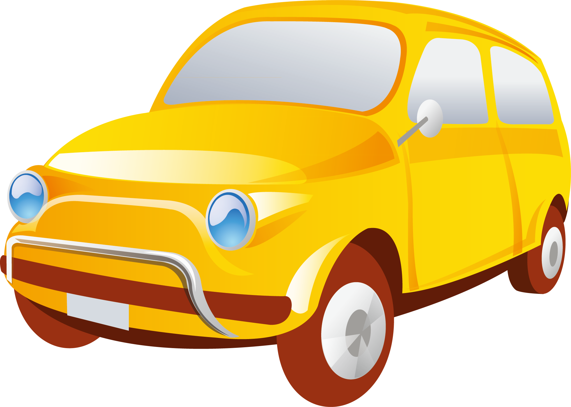 Old car vector clipart front view vector freeuse download Flashcard Clip art - Car decoration design vector 1959*1396 ... vector freeuse download