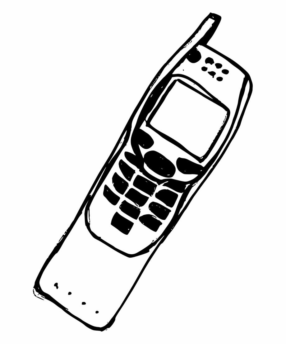 Old cell phone clipart jpg black and white library Mobile Drawing Old Phone - Old Mobile Phone Png, Transparent ... jpg black and white library