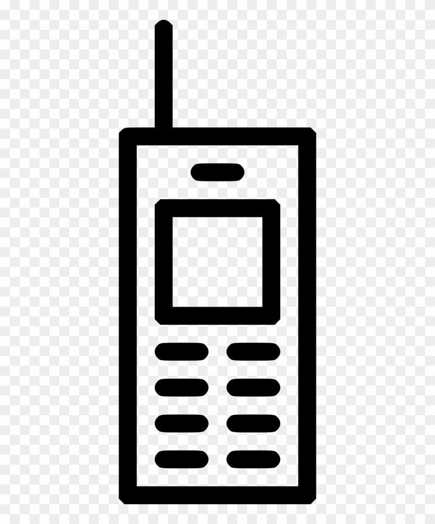 Old cell phone clipart black and white library Old School Mobile Phone Workstation Comments Clipart ... black and white library