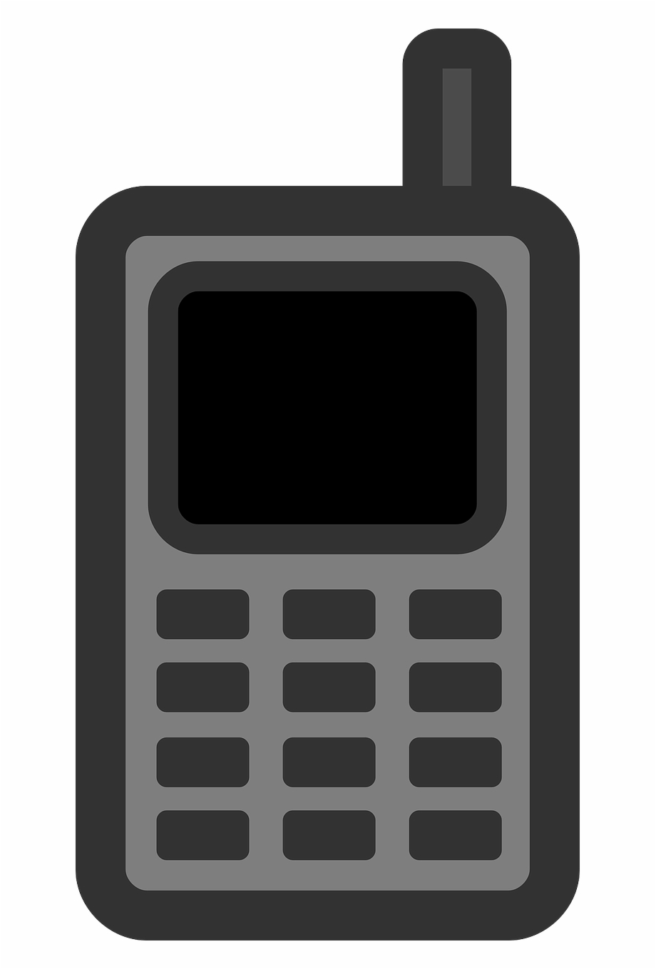 Old cell phone clipart jpg black and white stock Old Mobile Phone Clipart - Mobile Phone Clip Art, HD Png ... jpg black and white stock