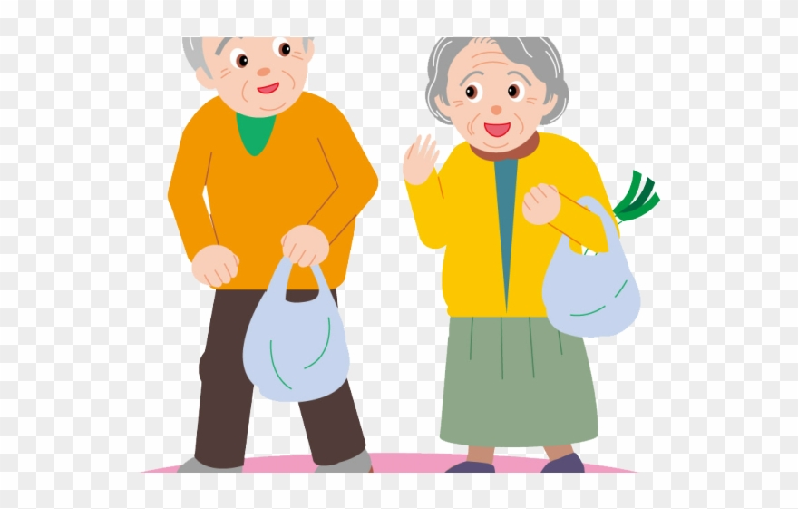 Old clipart images vector transparent library Old Clipart Senior Citizen - Old Couple Transparent Cartoon - Png ... vector transparent library