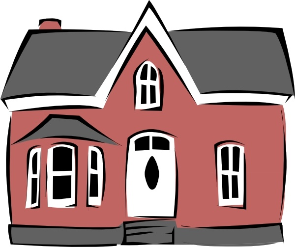Old colonial house clipart clip library stock Colonial House clip art Free vector in Open office drawing svg ... clip library stock