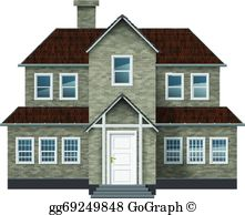 Old colonial house clipart clip art free stock Colonial House Clip Art - Royalty Free - GoGraph clip art free stock