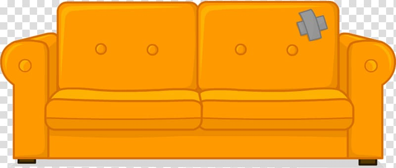 Old couch clipart png download Brown 2-seat sofa, Sofa bed Couch Living room , Old Couch ... png download