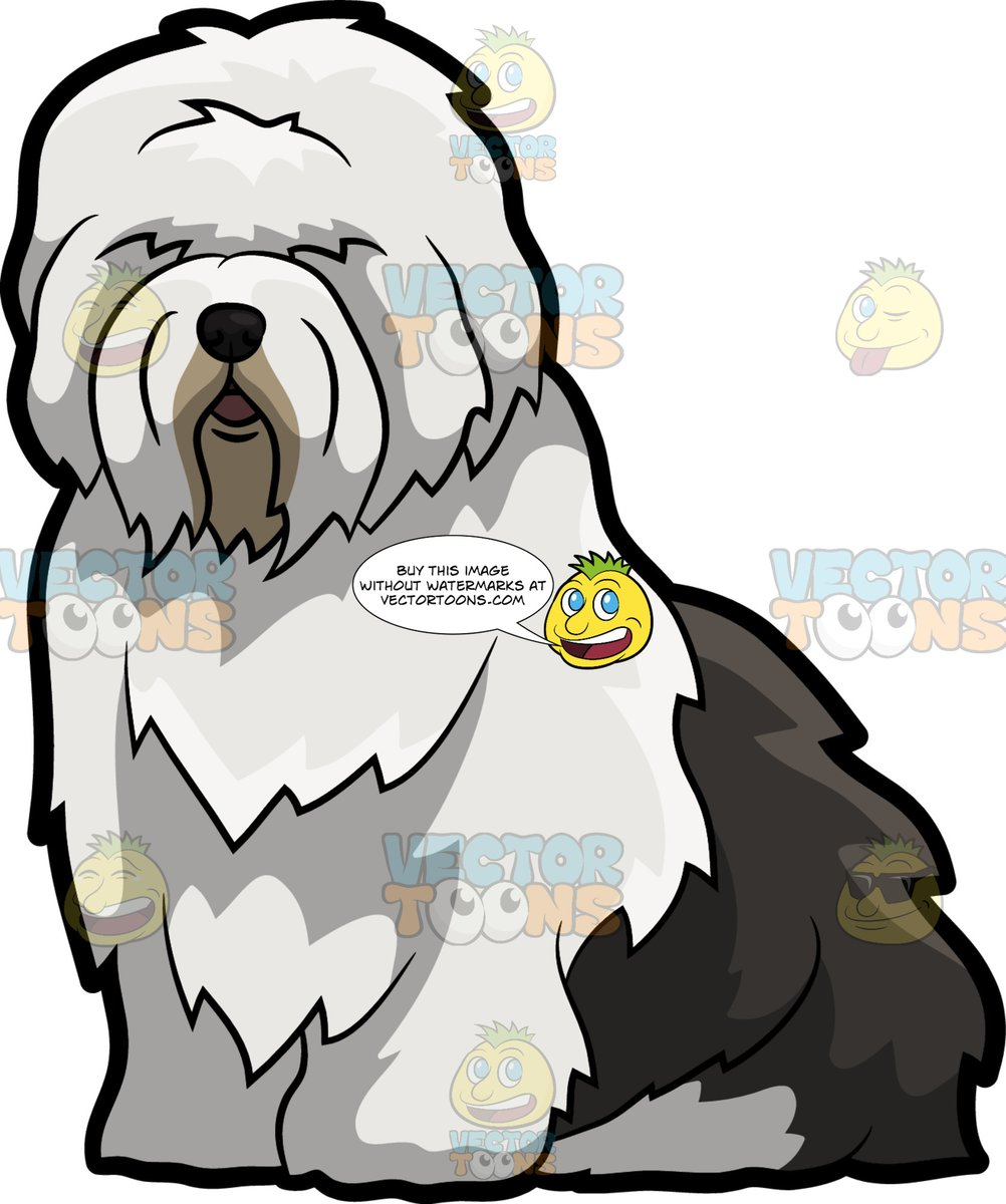 Old english sheepdog clipart picture freeuse stock A Cute And Fluffy Old English Sheepdog picture freeuse stock