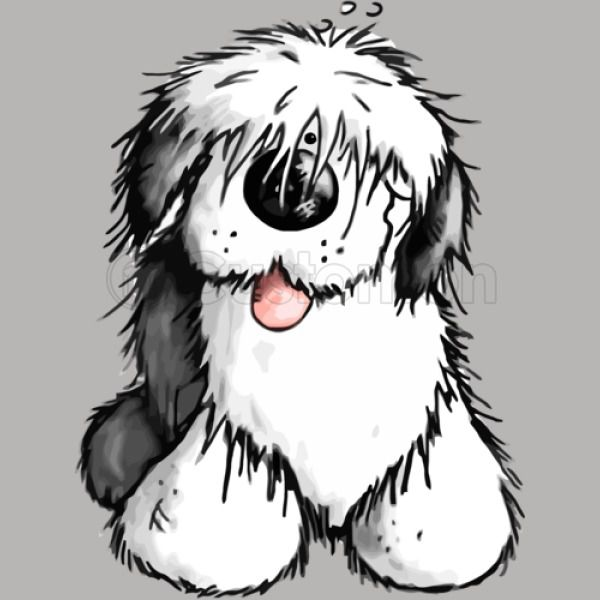 Old english sheepdog clipart freeuse library Bobbie Old English Sheepdog Travel Mug - Customon freeuse library