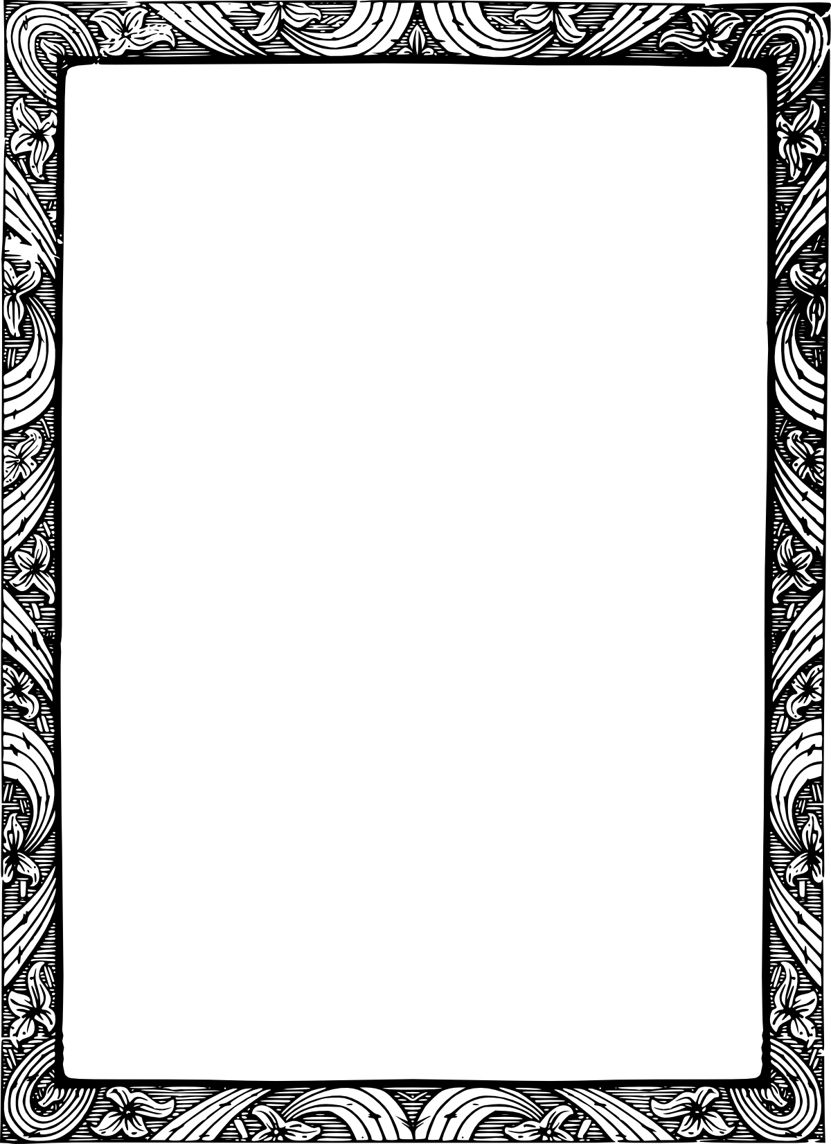 Old fashion design clipart no fill black and white stock Old fashion border clipart no fill - Clip Art Library black and white stock