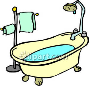 Old fashioned bathtub clipart banner free Old Style Bathtub - Royalty Free Clipart Picture banner free