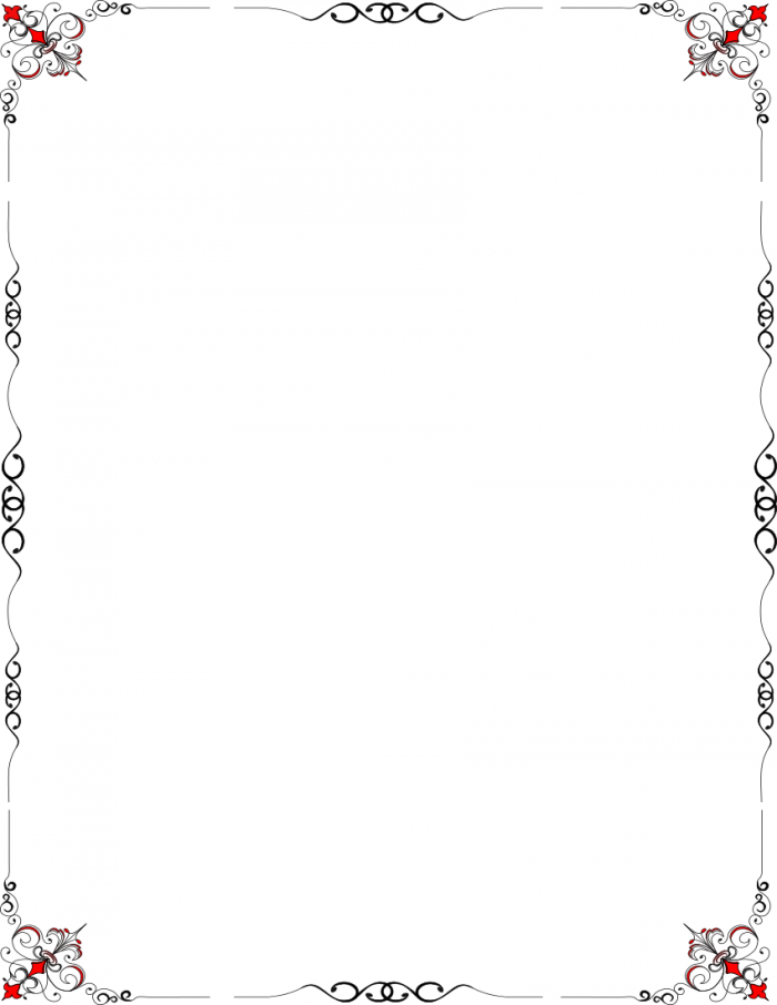 Old fashioned borders clipart