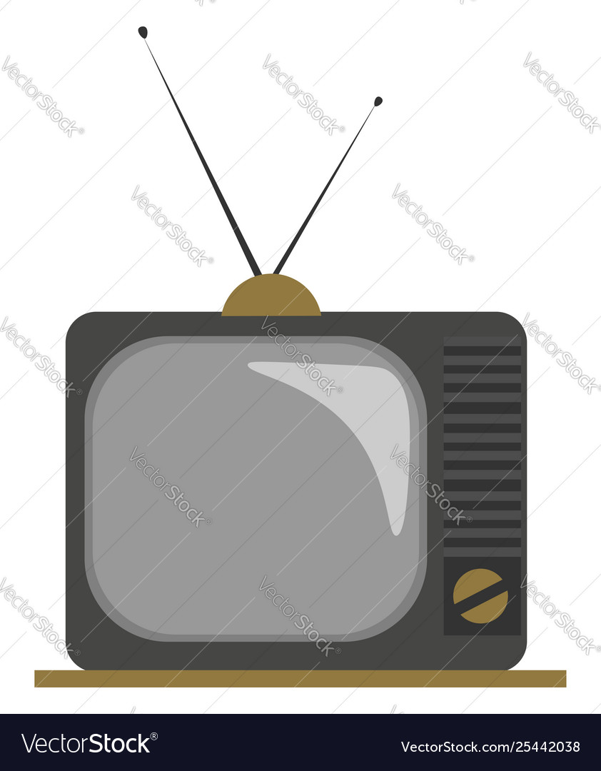 Old fashioned clipart free png royalty free library Clipart an old fashioned tv with two png royalty free library
