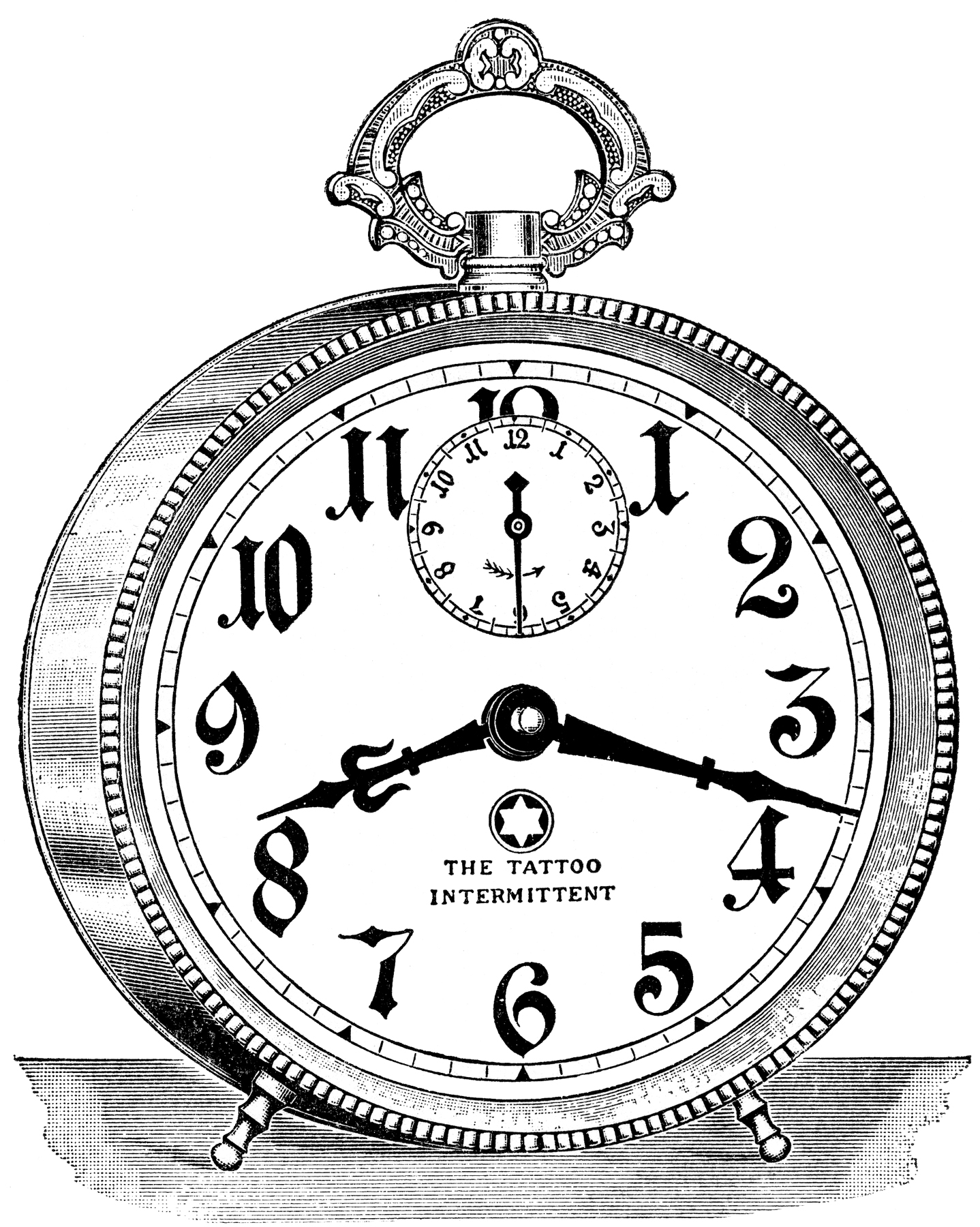 Old fashioned clock with world clipart clip art royalty free 8 Clock Graphics - Vintage Alarm Clocks etc - Updated! - The ... clip art royalty free