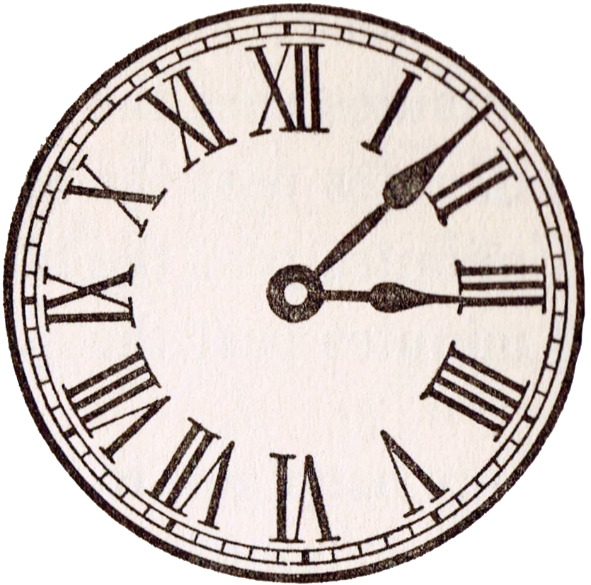 Old time clipart clipart royalty free stock Antique Clock Face Graphics from School Book | KnickofTime ... clipart royalty free stock
