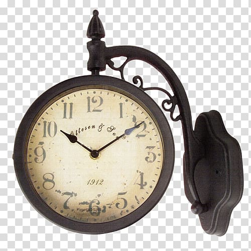 Old fashioned clock with world clipart