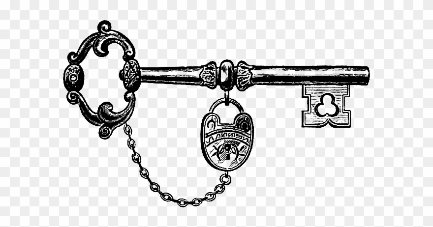 Old fashioned key clipart jpg freeuse library Download Vintage Key & Lock Clip Art Image - Antique Key Clip Art ... jpg freeuse library